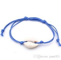 Bracciali con braccialetti a conchiglia Bracciali con braccialetti intrecciati in cera Bohemian unisex