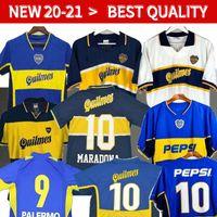 97 98 Boca Juniors Retro Fußball-Trikots Maradona ROMAN Caniggia 97 96 02 03 PALERMO Fußball Trikots Maillot Camiseta de Futbol 05 01