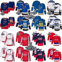 2018 19 Stanley Copa dos Campeões Washington camisola do hóquei Capitals Alex Ovechkin Tom Wilson St. Louis Blues Ryan O'Reilly Binnington Tarasenko