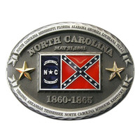 Men Belt Buckle New Vintage Confederate North Carolina Rebel...