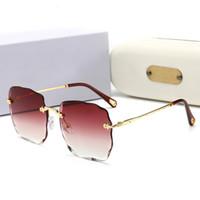 CHLOE جديد ماركة فاخرة مصمم txrppr الرجال النظارات مربع لوح أسود إطار خمر النظارات oculos uv400 عدسة زجاجية مكبرة مع مربع