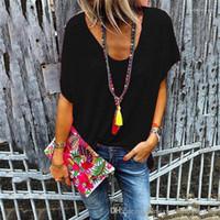 بأكمام قصيرة تي شيرت شبيه بجناح الخفاش الصيف كم فانيلة إمرأة الصلبة ملابس Cacual أنثى الملابس حلوى ملونة V عنق