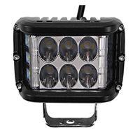 2PCS 4INCH 45W LED ثنائي الجانب مطلق النار الخفيفة العمل 12V القيادة على الطرق الوعرة وميض الضوء على سيارة شاحنة بيك أب جيب سيارات الدفع الرباعي بقيادة بار