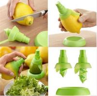 Pulverizador de limón Naranja Etc Atomizador de jugo de frutas Herramientas creativas de cocina Pulverizadores manuales Set 2 PCS / SET con plato