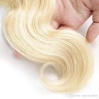 3 PCS Love Body Wave Ash ... ... أشقر البرازيلي ... ... شعر الإنسان البكر ... ... حزمة 613 إمتداد شعر ، مجانا DHL