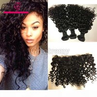 Greatremy Brazilian Water Wave 3Bundles With Lace Frontal 13...