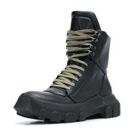 Militärstiefel Mann Ro Winterstiefel Plattform-Leder-Schuhe Herren 12 # 20 / 20e50