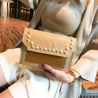 Designer 4styles Sequin Small flap Square Bag Chain Flap Sho...