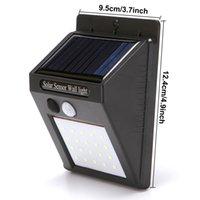 Outdoor Solar Wandbehang 20 LED-Lampen Home Garten Smart Motion Sensor Nachtwächter Wandleuchten Wasserdichte der Straßen-LED-Lampe DH1188 T03