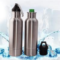 Bottiglia per il raffreddamento del vuoto con apribottiglie per birra 12 Oz Silvery Tenere in caldo tazza in acciaio inox Pratico resistente semplice manicotto isolante