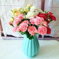 10 głowic sztuczne goździk bukiet koreański emulacja bukiet panna młoda trzyma bukiet matki wykres prezent dekoracji ślubnej kwiat t9i00379