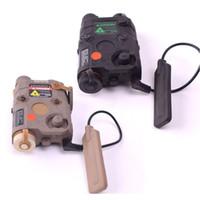 FMA AN / PEQ-15 LED 화이트 라이트 + 레드 레이저 W / IR 렌즈 270 루멘 AK 전술 손전등 DE / BK (무료 택배)