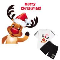 Netter Deer Tuch Patches Weihnachtsaufkleber Diy Zusatz-Wärmeübertragung Eisen auf Kleidung Mode Eisen auf Flecken-Geschenk