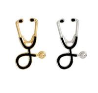 Lembrança graduação 2 Cor esmalte estetoscópio broche enfermeira Jóias Prata Medical Jóias Doutor Presente Nurse Medical School