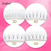 Seashine Lashes Premade fans Tige courte 3D Extension Cils Russie volume Lashes Premade fans 100% Hand Made Mink Lashes faux cils