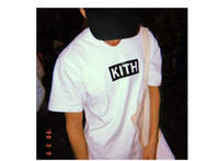kith Clothes Mens Designer T shirts Letters Printed O- neck S...
