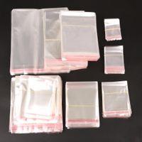 أكياس ختم شفافة قابلة لإعادة الاستخدام قوية أكياس بلاستيكية واضحة واضحة واضح البوليثين التعبئة والتغليف التخزين الغذائي والمجوهرات وهلم جرا