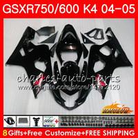 Carrocería caliente negro brillante para Suzuki GSXR 750 GSX R750 GSX-R600 GSXR600 04 05 7HC.4 GSXR-750 GSXR 600 04 05 K4 GSXR750 2004 2005 Kit de carenado