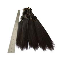 تعادل ضعف - 100٪ الانسان الشعر المعظم غير المجهزة الشعر الخام 16 18 20 22 24 26 بوصة اللون الطبيعي البرازيلي حريري مستقيم شعر إمتداد