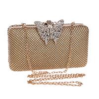 Schmetterling metall strass tasche weibliche kleine damen kristall abend handtasche kette schulter frauen party weddng geldbörse