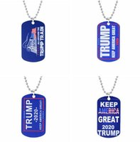 8styles Trump Keychains Necklace Stainless Steel Trump Tag K...