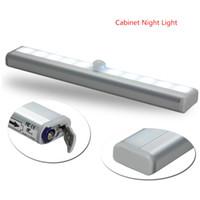 LED Détecteur de mouvement Capteur de capteur armoire armoire armoire de secours lampe de la batterie sèche sans fil