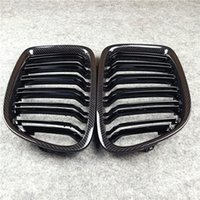 Double Line-Fronthaube Nierengittergrill Carbon-Look Glossy M-Farbe für X1 E84-Bumper-Grilles 2011-2015