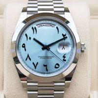 2020 hommes Hommes Montre 41mm Saphir DayDate Ancienne Montres mécaniques Arabes Arabes Anciens Mouvement Spectacle Bracelet en acier inoxydable Bracelet de bracelet