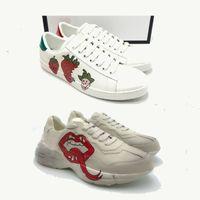 Büyük Boy US13 ACE Ayakkabı ile Astar Koku 2021 Ayakkabı Lace Up Sneakers Çilek Hayvanlar Işlemeli Beyaz Siyah Kaplan Yılan Kutusu Ile