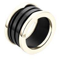 moda titanyum çelik aşk halkası gümüş hediye için severler siyah beyaz Seramik çift yüzük için altın bir yüzük gül