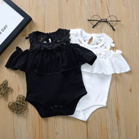 Newborn Baby Romper Sleeveless Summer Jumpsuit Flower Lace I...