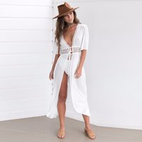 White Solid Maxi Kimono Woman' s Fashion Summer 2017 Sex...
