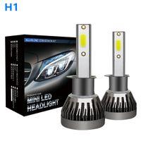 Winsun 1 paio mini lampada LED 9005 1 faro auto 9006 H1 H4 H7 H11 importato COB chip 90W 12000lm bianca di alto potere auto