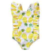 Baby Fruit Bikini-Badebekleidung 6M-4Y Kleinkind-Kinder 2020 Sommer-Badeanzug-Kind-Mädchen-netter einteiliger Badeanzug Bademode
