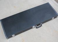 Evrensel Siyah Dikdörtgen Elektro Gitar / Bas Hardcase, Boyut / Logo / Renk Gerektiği gibi özelleştirilebilir