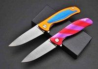 Shirogorov Phoenix mango 9CR18MOV piedra de lavado de aluminio plegable 58-60HRC cola G10 supervivencia del cuchillo que acampa del cuchillo de Navidad A1216 regalo