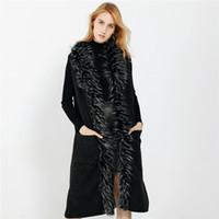 Cardigan Gilets de femme Pull fluffly Garniture hiver manches Poches Lady Mode en fausse fourrure chaude Vintage Gilet Shaggy Veste Manteau