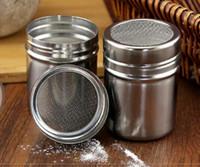 Café Tamiz inoxidable Shaker chocolate Cacao Harina Azúcar en polvo Polvo de la coctelera de cocina utensilios de cocina