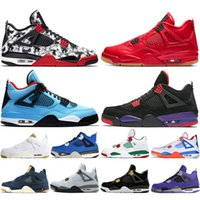 4 4s Tattoo Singles Day Mens Basketball Shoes Travis Scotts ...
