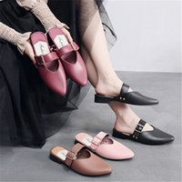 Cover Toe Rubber Flip Flops Shoes Woman 2020 Slippers Flat M...