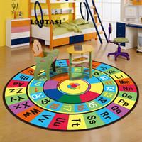 LOUTASI macio do jogo do bebê Mats para crianças em desenvolvimento Letters Alfabetização tapete tapete crianças Crianças Andar Jogos Mats Crawling Cobertores