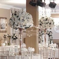 98 CM Masa Vazo Metal Düğün Çiçek Vazo Ev Masa Metal Çiçekler Vazolar Düğün Dekorasyon Altın Gümüş Renk