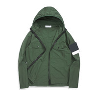 Topstoney 2020 Konng 봄 봄과 가을 새로운 얇은 후드 자켓 고급 버전 패션 브랜드 트렌치 코트