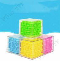 Nuevo los 5.5CM 3D rompecabezas del cubo de la mano del juguete Juego Laberinto caso de caja de diversión juego de cerebro reto Fidget Juguetes Equilibrio juguetes educativos para los niños