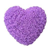 10pcs 35cm Roses coeur artificiel Fleurs Accueil Fête de mariage bricolage bon marché décoration de mariage boîte-cadeau Couronne Artisanat meilleur cadeau hope13
