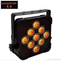 Gigertop TP-G3039-5IN1 5IN1 9x15W RGBWA SLIM LED Par Cans Grenzen Gehäuse Netz in / out Buchse für Club / Theater / Hochzeit / Weihnachten LED-Beleuchtung