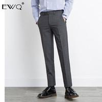 Herrenanzüge Blazer Ewq / England Stilhose für männliche Selbstanbau Bottoms 2021 Herbst Mode Plaid Pants Vintage 9Y0068
