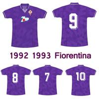 1992 1993 Fiorentina Retro Futbol Forması 92 93 Fiorentina Laudrup Batistuta Klasik Vintage Futbol Gömlek