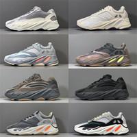 2019 zapatos más nuevos Kanye West Wave Runner Hombres Mujeres atléticos mejores 700S calidad para deportes zapatillas de deporte corrientes estáticas B75571 con la caja