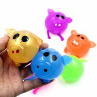 Descompressão Pig Anti Estresse Splat bola brinquedos Vent Ventilação bola pegajosa quebra Water Ball Squeeze Partido Toy favor LJJO7344